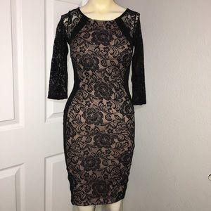 Black and Tan lace dress